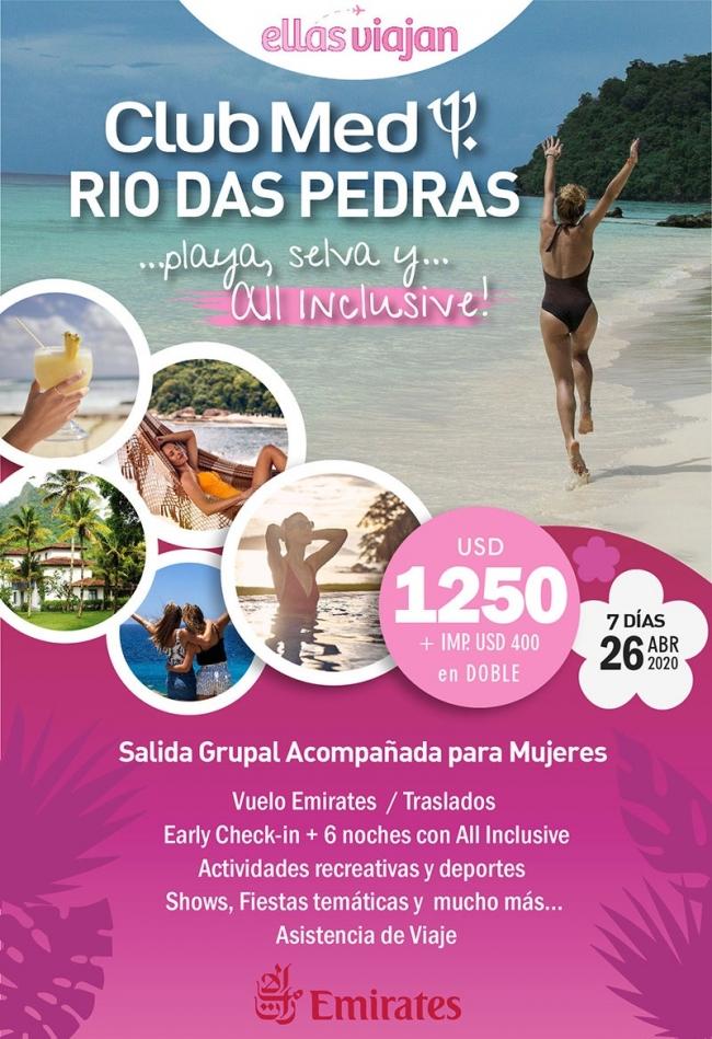 Ellas Viajan - Club Med Rio das Pedras